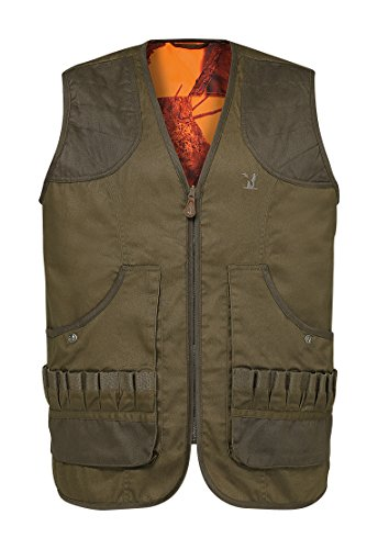 Percussion - Gilet de chasse Savane réversible Ghostcamo Blaze & Black Percussion-L