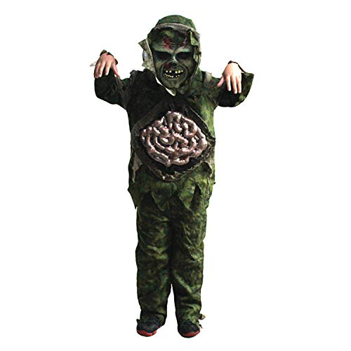 Shi18sport Kinder Kind Junge Halloween Cosplay Scary Zombie Ghost Dickdarm Kostüm Horror Sumpf Party Requisiten Bühne Outfits Kleidung, ()