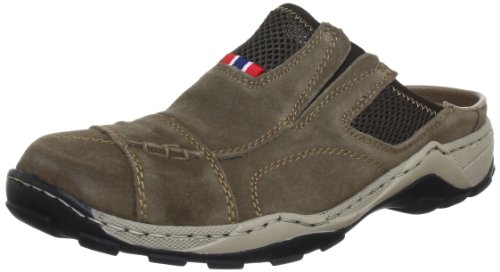 Rieker 08097 Mules & Clogs-Men, Herren Clogs, Braun (mud/kastanie/26), 42 EU