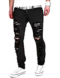 Tomsent 2017 Homme Skinny Trou Biker Jeans Straight Fit Déchiré Styles  Destroyed Denim Slim Fit Serré f8496ae689b5