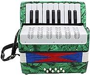 ammoon Mini pequeño de 17 teclas 8 bajo acordeón educativo instrumento musical de juguete para niños principia