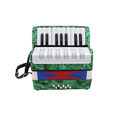Ammoon mini small, tasti, 8bass educational strumento musicale giocattolo per bambini principianti amatoriali christmas gift, green