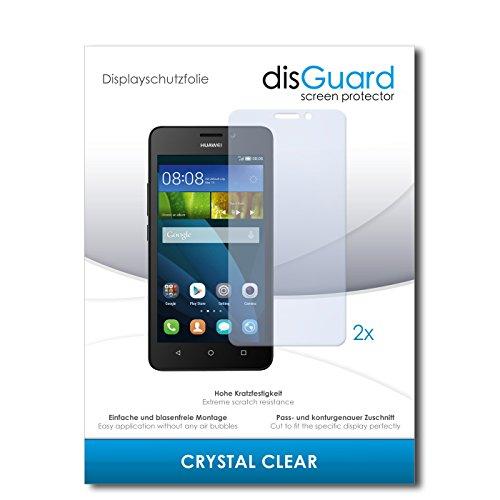 disGuard® Displayschutzfolie [Crystal Clear] kompatibel mit Huawei Y635 [2 Stück] Kristallklar, Transparent, Unsichtbar, Extrem Kratzfest, Anti-Fingerabdruck - Panzerglas Folie, Schutzfolie