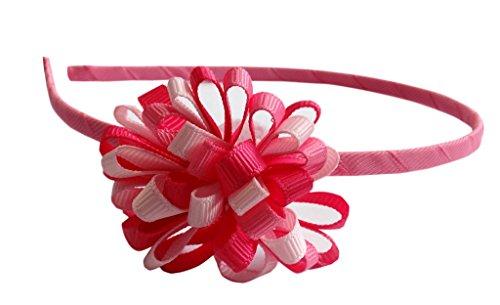 Jessidress Haar Stirnbänder Haarband Haarblumen Haarspangen Haar Clip Blume Fushia
