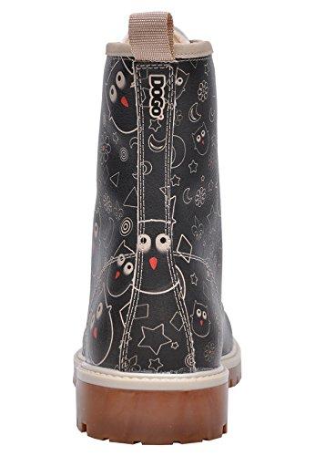 Dogo  Owl Lover,  Damen Stiefel , schwarz - schwarz - Größe: EU 40 - 3
