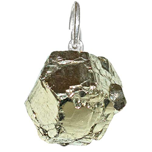 Vibraciones cristallines Colgante para Mujer en Plata 925/1000Pirita Brute