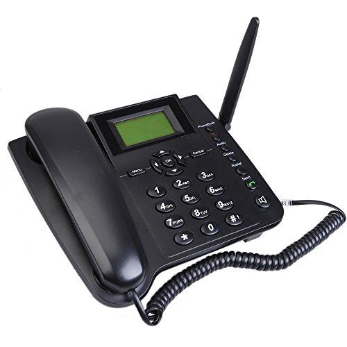 Fixed Wireless Telefono - SODIAL(R) M281-GSM Fixed Wireless GSM Telefono Fijo Inalambrico con Funcion SMS Cuatribanda