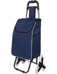 XIN Carrello per la spesa leggero Carrello pieghevole per bagagli pieghevole con ruote Shopper per Go Up e Down Scale 6 ruote, L