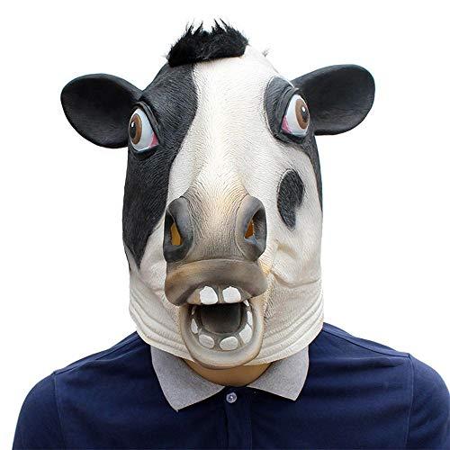 Littlefairy Maske,Halloween-Urlaub-Party-Nachschub Kuh Haube Latex ()