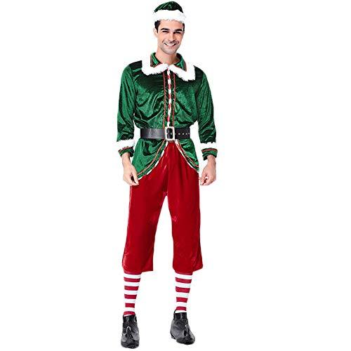 Costour Herren Schönes Schickes Weihnachtskostüm Paar Tragen Grüne -