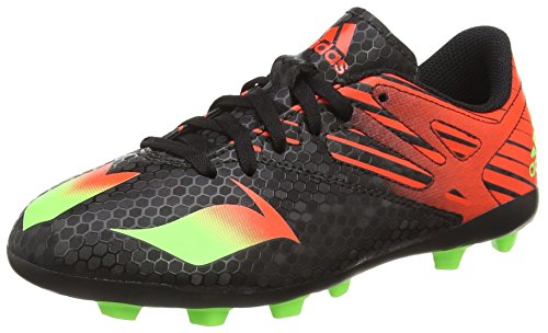 adidas Unisex-Kinder Messi 15.4 Fxg Fußballschuhe, Schwarz (Core Black/Solar Green/Solar Red), 38 2/3 EU
