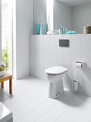 Laufen 8929510000001 WC-Sitz PRO weiß mit Deckel und Befestigung verchromt