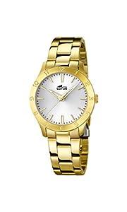 Lotus 18140/1 Trendy- Reloj de cuarzo para mujer con correa de acero, color dorado