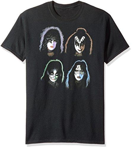 Kiss-Herren Solo Köpfe T-Shirt Gr. XXXXX-Large, schwarz