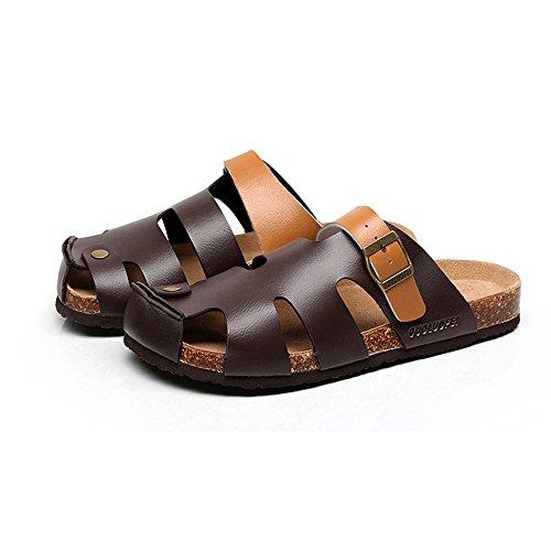 XIA Pantofole da uomo in sughero di grandi dimensioni antiscivolo per il  tempo libero sandali da ... 37858ba2a0d