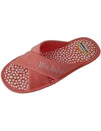 Arus - Zapatillas de baño de rizo (2 pares), color: burdeos , tamaño: 43-46
