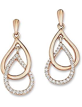 amor Damen-Ohrhänger Tropfen 925 Sterling Silber rosévergoldet Zirkonia weiß  - 510189