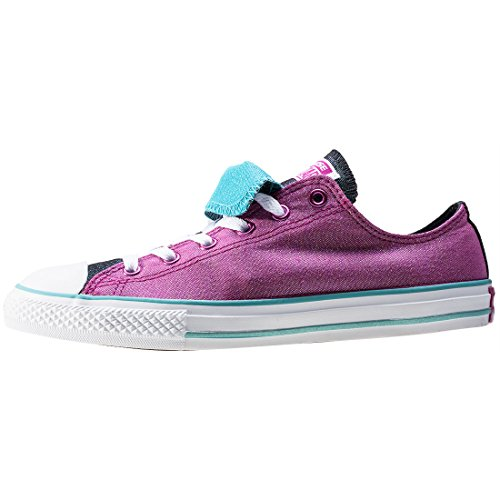 Converse Unisex-Kinder All Star Double Tongue Sneaker Rot
