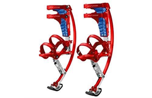 Skyrunner Kinder/Kind Youth Känguru Schuhe springstelzen Fitness Übung (rot, Tragkraft range-30–50kg)