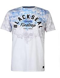 Firetrap Mens Blackseal Cascade T Shirt Crew Neck Regular