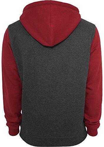 Urban Classics Herren Sweat Jacke - verschiedene Farben charcoal/ruby/white