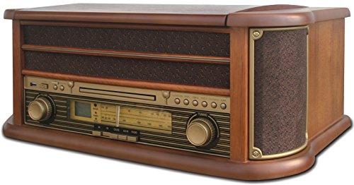 Nostalgie Retro Kompaktanlage | Plattenspieler | Grammophon | Stereoanlage | Musikanlage | Radio | CD PLAYER | USB | FERNBEDIENUNG | MP3-Encoding: Aufnahme im MP3-Format