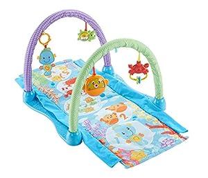Fisher-Price Gimnasio musical juega y gatea, manta de juego para bebé  (Mattel DRD92)
