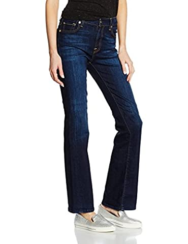 7 for all mankind Women's Bootcut Jeans, Blue (Indigo), W27/L34