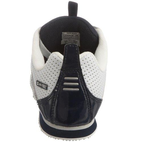 Hi-Tec Track Jr, Unisex - Kinder Sportschuhe - Fitness Weiß (White/navy/silver 011)
