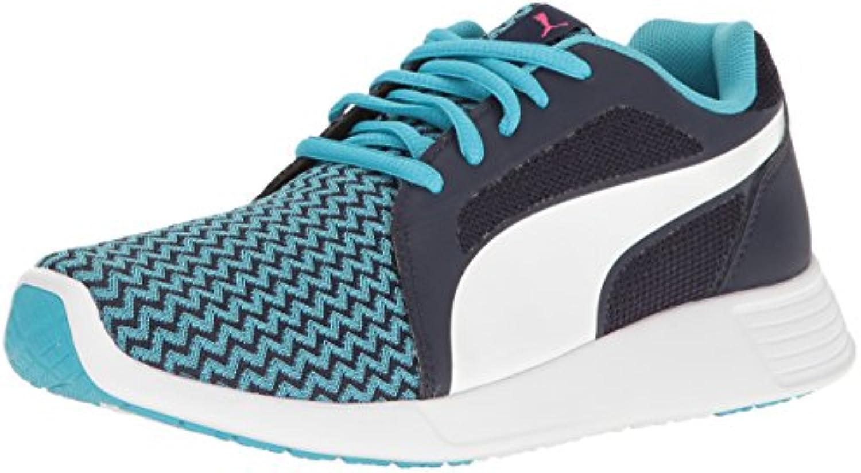 Puma UnisexKids St Trainer Evo Techtribe Sneaker  Blue Atoll White  5 M US Big Kid