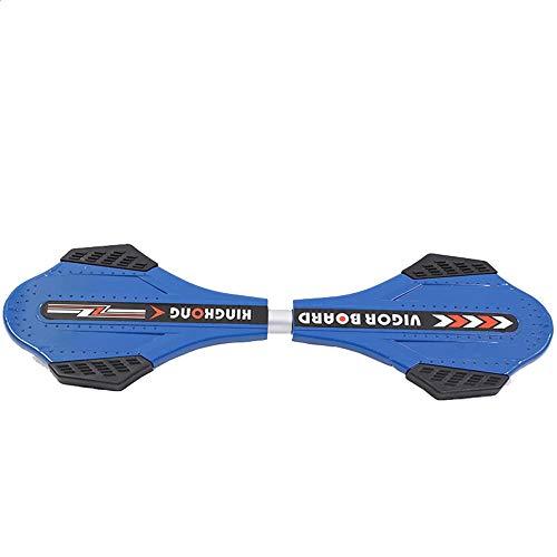 BGROEST Fashion Skateboard Robustes Skateboard Der Roller-Erwachsene Zweiradschlangen-Brett-Vitalitätsbrett-Drachen-Skateboard der Kinder (Farbe : Blau, Größe : Free Size)