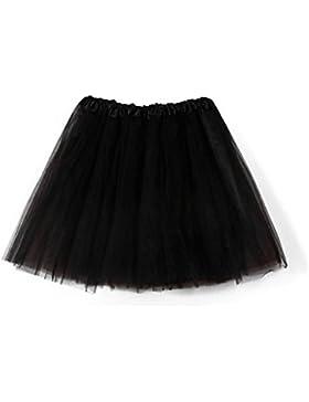QinMM falda de tutú de danza para mujeres Tulle faldas con el cinturón elástico para el banquete de boda