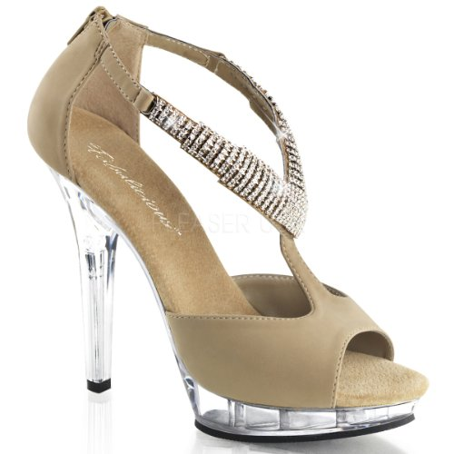 Pleaser, Sandali Donna Multicolore (taupe Nubuck / Clair)