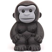 Goma de borrar animal en forma de gorila mono negro de Iwako Japón