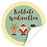 48 Weihnachtsaufkleber VINTAGE MOTIVE/rund, ca. 4cm / Weihnachen/Adventskalender / Advent/Geschenke / Verpackung/Deko