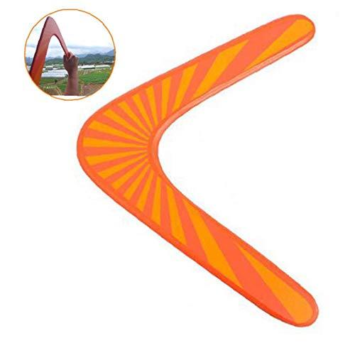AMOYER Holz Boomerang Outdoor Fun Sports Kunststoff Boomerang Outdoor Park Sonder Fliegen Spielzeug Fliegen Für Erwachsene Kinder
