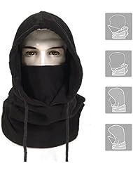 A de Forest Funktions Pasamontañas cara cubierta Balaclava frío Máscara de esquí Máscara Sombrero Negro Máscara motocicleta Biker Snowboard Protección contra el frío