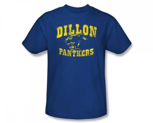 Friday Night Lights - Dillon Panthers Slim Fit Adult T-Shirt In Royal, Large, Royal -