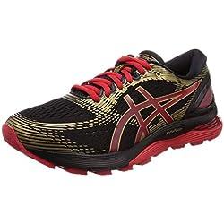 Asics Gel-Nimbus 21 1011a257-001, Zapatillas de Running para Hombre, Negro (Black/Classic Red 001), 44 EU