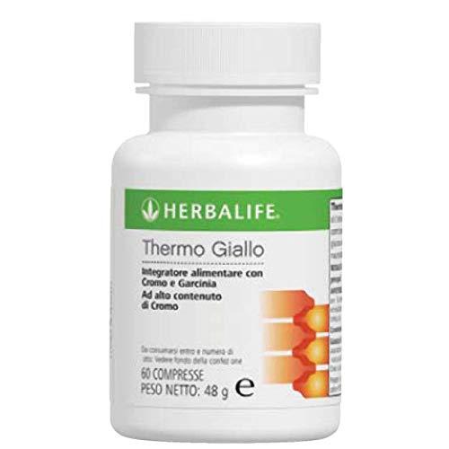 Herbalife thermo giallo integratore alimentare a base di cromo con garcinia 48 gr