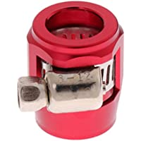 Sharplace Abrazadera para Tubería de Aire Aceite Gasolina de Automoviles, AN6 - Rojo