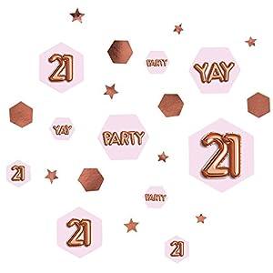 Neviti 773413Glitz y Glamour edad 21confeti mesa Scatters, Rosa/Oro rosa