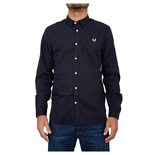 Fred perry pe 17 camicia textured sm1603 col blu - m, blu