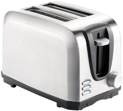 Rosenstein & Söhne Schlitz-Toaster: Edelstahl-Toaster für 2 Scheiben, 650 W (Toast-Gerät)