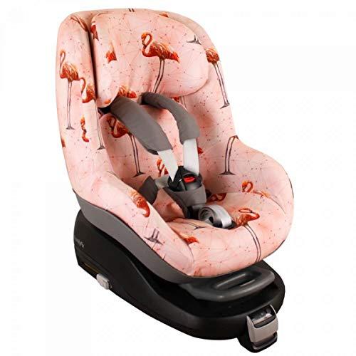 Housse Siege Auto Bebe Pour Coque Maxi Cosi 2waypearl, Bebe Confort  Accessoire Enfant Indispensable pour plus de Confort  Coton Oeko-Tex Certifié  Rose  Flamants Roses
