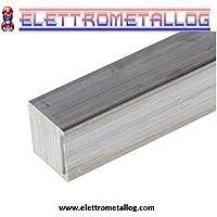 60 x 60 mm AlMgSi1 Profilo quadrato in alluminio 25mm