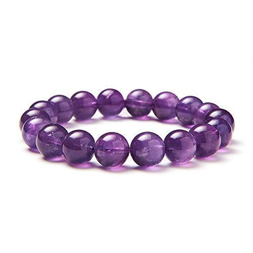 Sunnyclue naturale vera ametista pietre preziose braccialetto elastico 10 mm rotondo perline circa 7