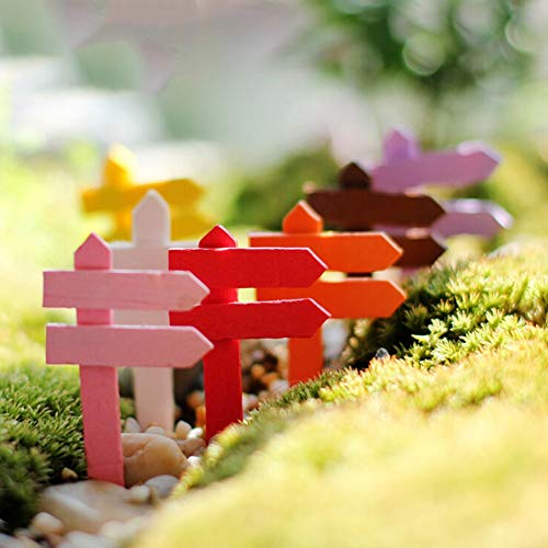 Figurine Bonsai - 10pcs Diy Micro Landscape Wood Crafts Sign Board Signboard Miniatures Fairy Garden Gnome Moss - Driver Sign Wooden Fairi Tv Wooden Decor Wooden Wooden FamilyWood Sign M -