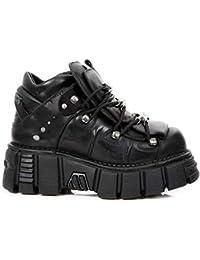 Newrock Nouvelles Chaussures DE Tour Rock M.106-S43 Bottes Gothiques Biker Cuir  Noir 7c3f03e96e66