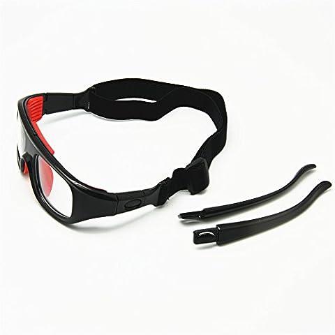 2-en-1 Basketball verres optiques pattes détachables & Bracelet sport Lunettes